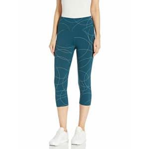 SHAPE activewear Women's Pirouhette Capri, Reflecting Pond, M for $54