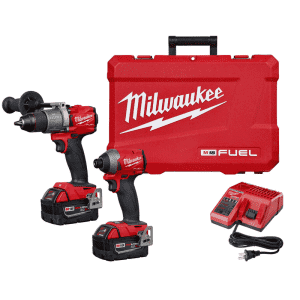 Milwaukee M18 18V Cordless Brushless Hammer Drill & Impact Driver Kit for $400