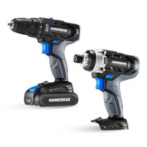 HammerHead 20V Cordless Drill and Impact Driver Combo Kit for $75