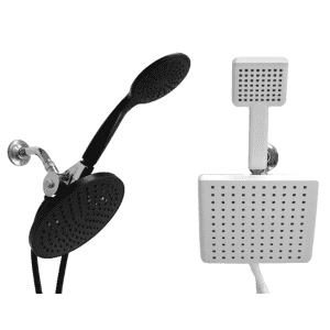 Hydrospa Luxe Dual Function Rainfall Showerhead Set 2-Pack for $45