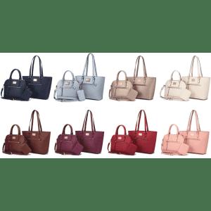 Lovevook 3-Piece Tote Handbag Set for $19