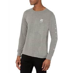 Billabong Men's Long Sleeve Premium Logo Graphic Tee T-Shirt, Unity Dark Grey Heather, XX-Large for $19