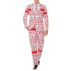 Braveman Men's Classic-Fit Christmas Suit with Tie for $35