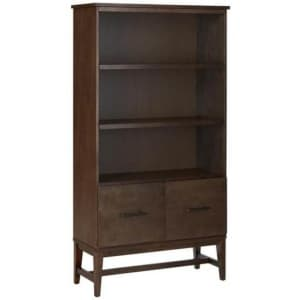 """Home Decorators Collection Bellamy 61"""" 3-Shelf Standard Bookcase w/ File Drawers for $185"""