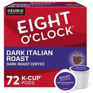 Eight O'Clock Coffee Dark Italian Roast Keurig Single-Serve K-Cup Pods, Dark Roast Coffee, 72 Count for $61