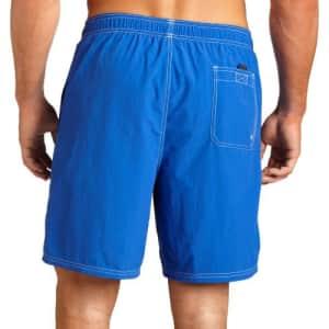 Nautica Men's Solid Nylon Swim Trunk,Cobalt,Large for $30