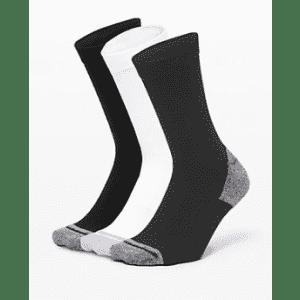 Lululemon Men's Intent Crew Sock 3-Pack: for $38