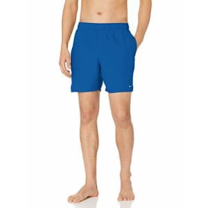 """Nike Swim Men's Solid Lap 7"""" Volley Short Swim Trunk, Game Royal White, Large for $51"""