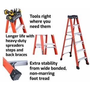 Louisville Ladder 6-Foot Fiberglass Step Ladder, 375-Pound Capacity, FS1406HD for $391