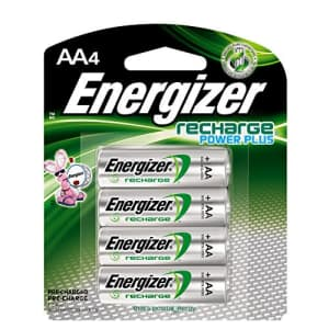 Energizer Rechargeable AA Batteries, NiMH, 2300 mAh, Pre-Charged, 4 count (Recharge Power Plus) for $11