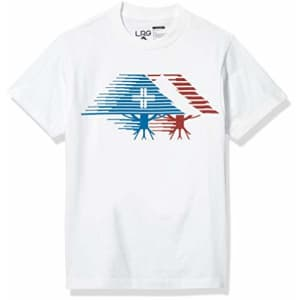 LRG Men's Crew Neck Short Sleeve T-Shirt, White, S for $8