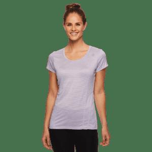 Reebok Women's Burnout Stripe T-Shirt for $4