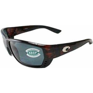Costa Del Mar Men's Tuna Alley Readers Rectangular Sunglasses, Tortoise/Copper Polarized for $169