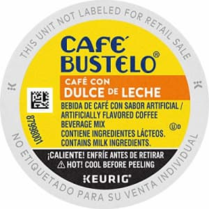 Cafe Bustelo Caf Bustelo Caf con Dulce de Leche Flavored Espresso Style Coffee, 10 Count (Pack of 6) for $69