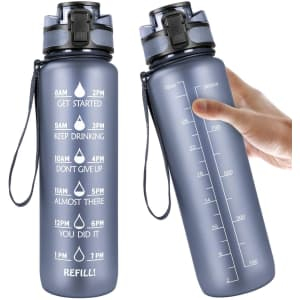 Manords 32-Oz. Motivational Water Bottle for $12