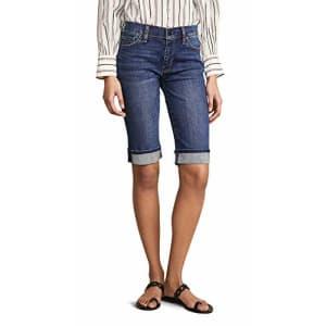 HUDSON Women's Amelia Cuffed Knee Shorts, Vagabond, Blue, 25 for $95