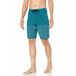 "Volcom Men's Lido Heather 20"" Stretch Boardshort, Chlorine, 28 for $54"