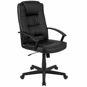 Flash Furniture Flash Fundamentals High Back Black LeatherSoft-Padded Task Office Chair with Arms for $87