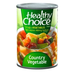 Healthy Choice 15-oz. Country Vegetable Soup Cans 12-Pack for $23 via Sub & Save