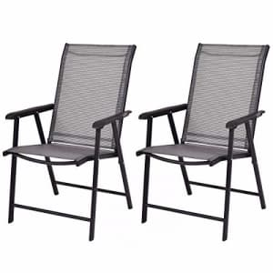 Giantex 2-Pack Patio Folding Chairs Portable for Outdoor Camping, Beach, Deck Dining Chair for $160