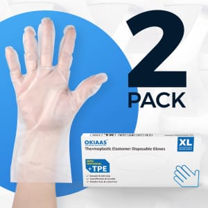 Toolant 100-Count Disposable TPE Gloves 2-Pack for $9