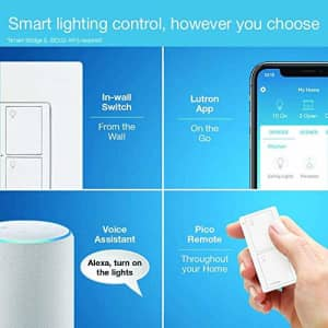 Lutron Caseta Smart Home Switch, Works with Alexa, Apple HomeKit, Google Assistant | 6-Amp, for for $60