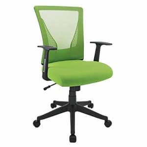 Brenton Studio Radley Mesh Mid-Back Task Chair, Green/Black for $76