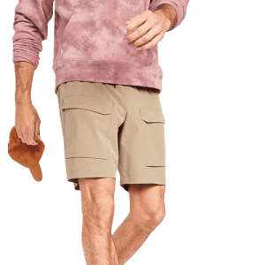 """Old Navy Men's StretchTech Go-Dry Shade 9"""" Cargo Shorts for $15 in cart"""