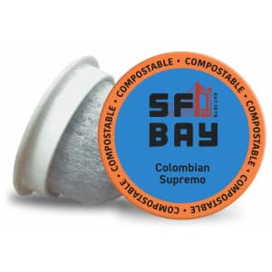 San Francisco Bay Coffee Colombian Supremo Coffee Pods 80-Pack for $34