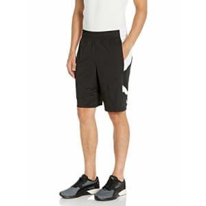 PUMA Men's CAT Shorts, Black White, L for $23
