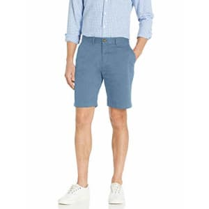 Tommy Hilfiger Men's Casual Stretch Chino Shorts, Captain's Blue, 33 for $60