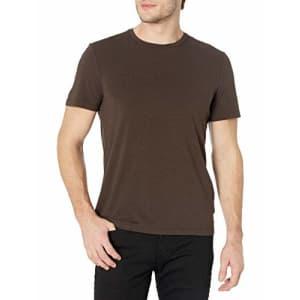 PAIGE Men's Cash Short Sleeve Crewneck T-Shirt, Oakwood Brown, XL for $62