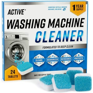 Active 24-Count Washing Machine Cleaner Tablets for $13