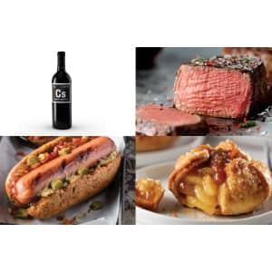 Omaha Steaks Family Filet Dinner + Cabernet Bundle for $189
