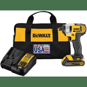 "DeWalt 20V Max 1/4"" Impact Driver Kit for $94"