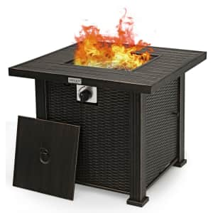 """Costway 30"""" 50,000-BTU Square Propane Gas Fire Pit Table for $220"""