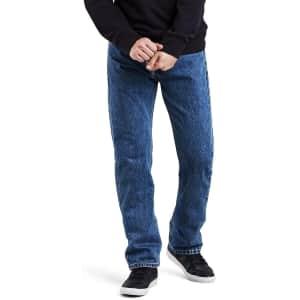 Levi's Men's 505 Regular Fit Jeans for $33