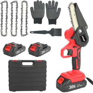"""Xording 4"""" Electric Mini Chainsaw for $45"""