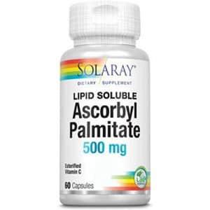 Solaray Ascorbyl Palmitate, Capsule (Btl-Plastic) 500mg | 60ct for $14