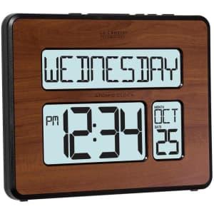 La Crosse Technology Atomic Digital Wall Clock w/ Backlight for $34