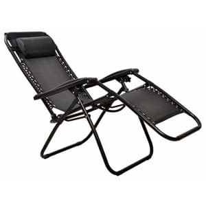 BalanceFrom Adjustable Zero Gravity Lounge Chair Recliners for Patio, Black for $54