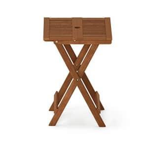 Furinno FG18065 Tioman Hardwood Patio Furniture Folding Table in Teak Oil, Large, Natural for $160