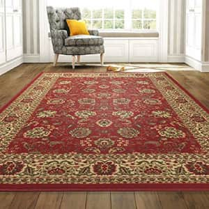 Ottomanson Ottohome 5x6.5-Foot Floral Persian Rug for $52