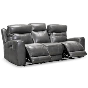 """Bitola 86"""" Top Grain Leather Dual Power Reclining Sofa for $1,169"""