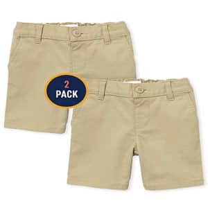 The Children's Place Girls' Toddler Uniform Chino Shorts 2-Pack, Sandy, 5T for $18