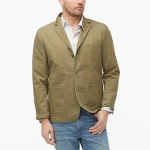 J.Crew Factory Men's Cotton Chore Blazer for $29