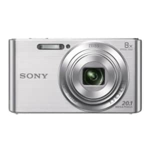 Sony DSCW830 20.1 MP Digital Camera with 2.7-Inch LCD (Silver) for $148
