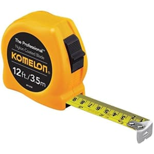 Komelon 4912IM 2 Pack 12ft. The Professional Tape Measure, Yellow for $26