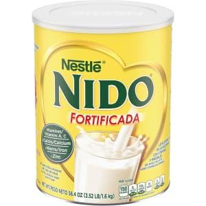 Nestle Nido Fortificada Dry Milk 56.4-oz. Canister for $12 via Sub & Save