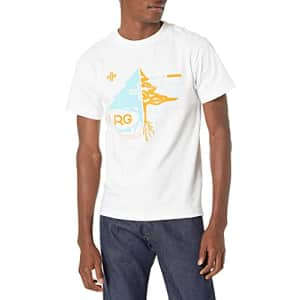 LRG Research Group Men's Graphic Design Logo T-Shirt, White Lifted, L for $18